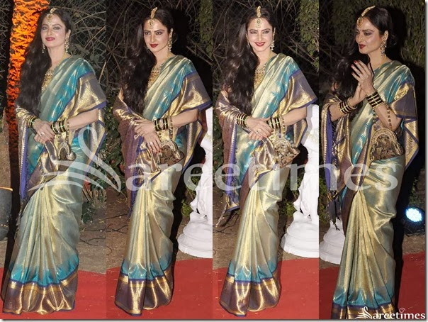 Rekha_Gold_Green_Traditional_Silk_Saree
