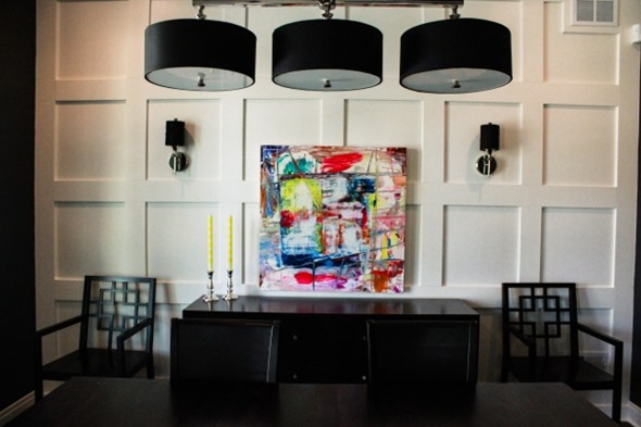 Lindsay Cowles Abstract Painting | Broony Square Dining Room