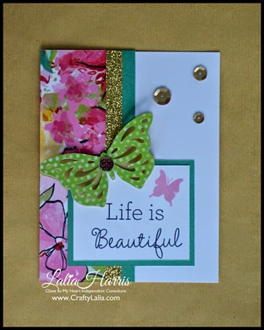 Card made from CTMH Brushed andYour Own Kind of Wonderful stamp D1627 by Lalia Harris