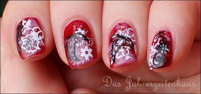 Floral Grunge Nails 9