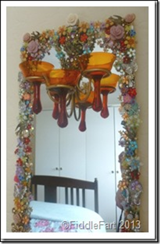 Jewelled Mirrors Upcycled