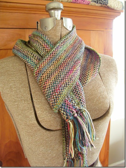 cozy things linen stitch scarf