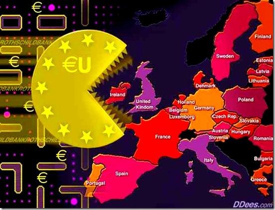 Euro Pacman eating