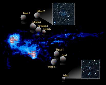 Nuvens de Magalhães e os novos satélites
