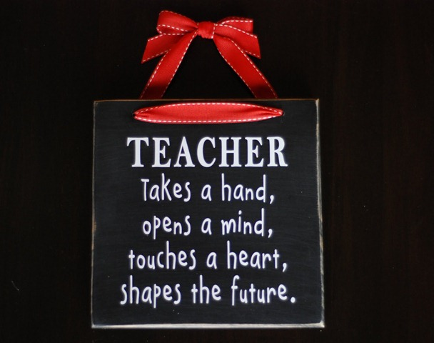 52 teacher gift plaque