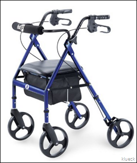 Amazon.com  Hugo Portable Rollator Walker with Seat  Backrest and 8 Inch Wheels  Blue  Health   Personal Care