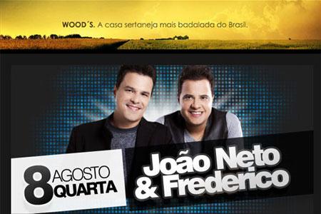 João Neto e Frederico no Wood's Bar em São Paulo