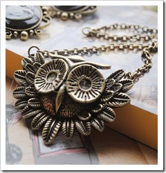 Vintage-Owl-Fashion-necklace-Bronze-plated-10pcs-lot-Free-shipping