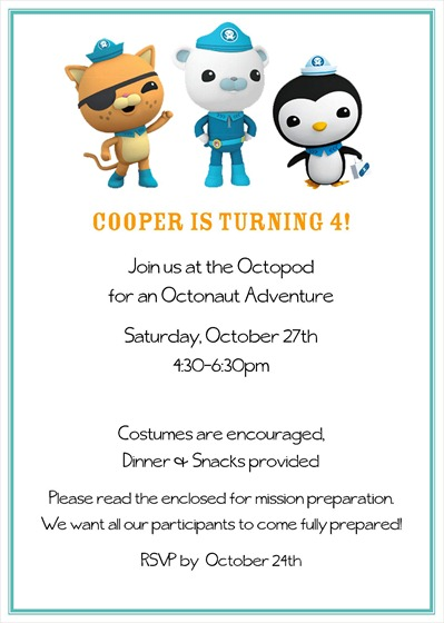 Octonaut Invitation - Back - Without Info For Blog