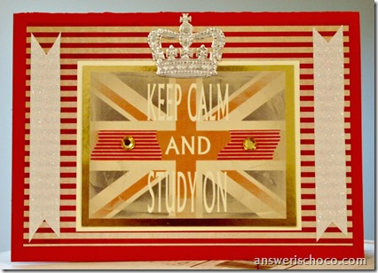 Keep Calm Study Card