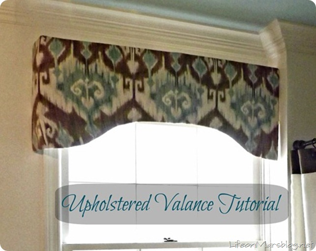 Upholstered Valance Tutorial