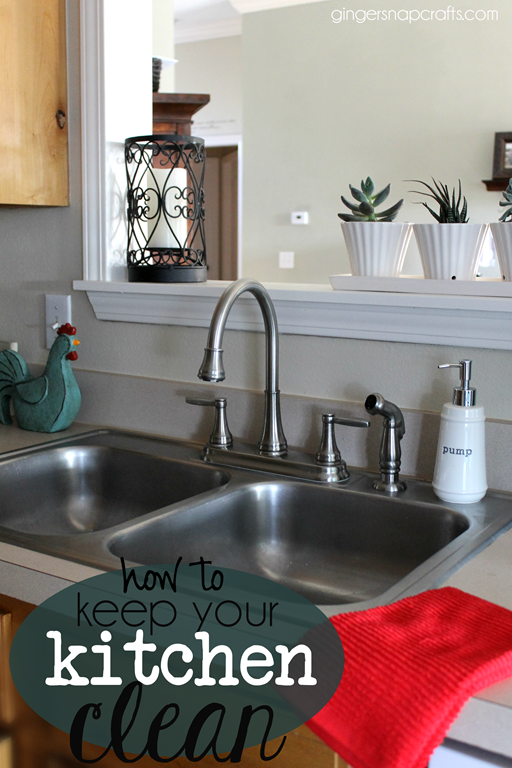 how to keep your kitchen clean at GingerSnapCrafts.com #kitchen #cleaningtips