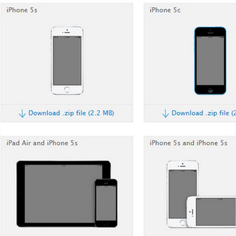 Templates de imágenes de los diseños del iPhone 6 y iPhone 6 Plus