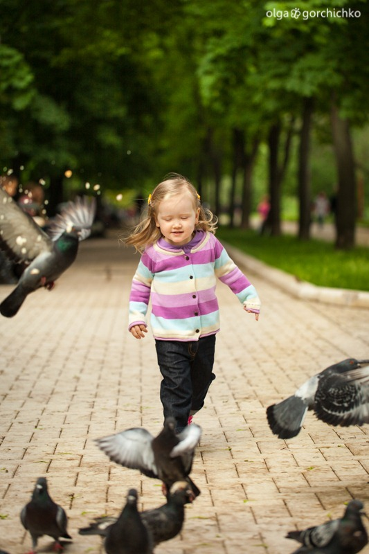 Аня. Весенняя фотосессия, Москва. Детский фотограф Ольга Горчичко