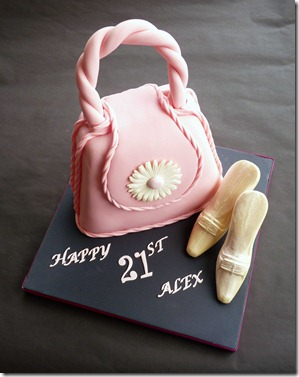 Pink-Handbag-Birthday-Cakewith-Chocolate-Shoes