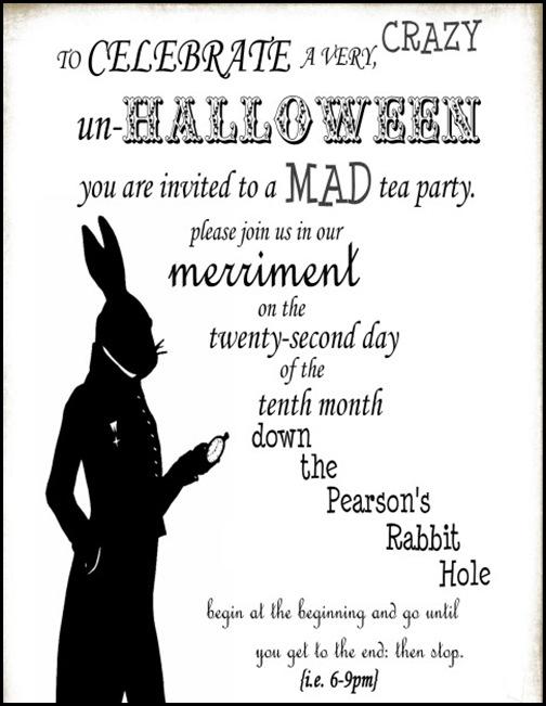 halloween invite 5x7