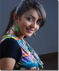 Bhama in colourful dress