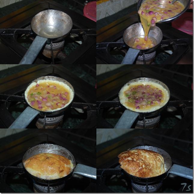karandi omelette process