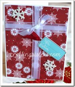 Snowflake Present Card