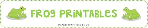 Free Frog Printables