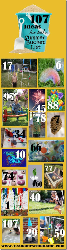 107 Must do ideas for kids summer bucket lists