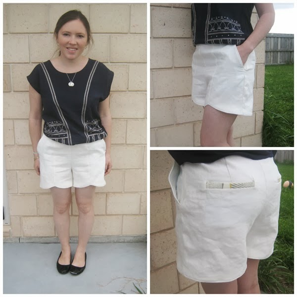 sweet scalloped shorts collage
