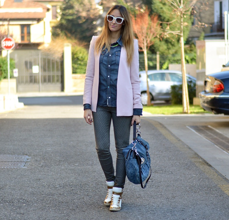 Zara, Zara jacket, True Religion, Primark, Primark shoes, Sneakers with wedge, Sneakers con la zeppa