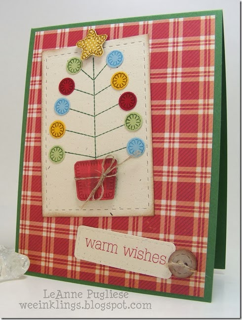 LeAnne Pugliese WeeInklings Merry Mondays 98 Christmas Card Waltzingmouse