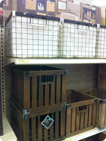 Target luv from thrifty decor chick for Where can i buy wooden milk crates