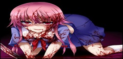 Mirai Nikki gasai yuno bloody anime wallpaper phi stars and animekida