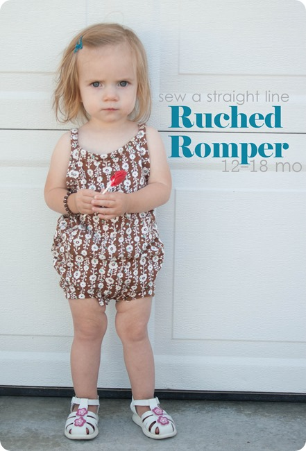 ruched romper 12 18