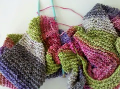 knitting scarf