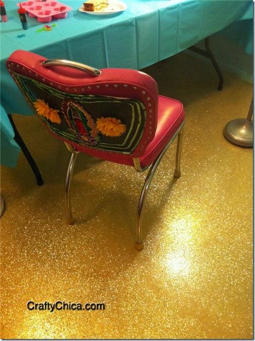 diy glittter floor