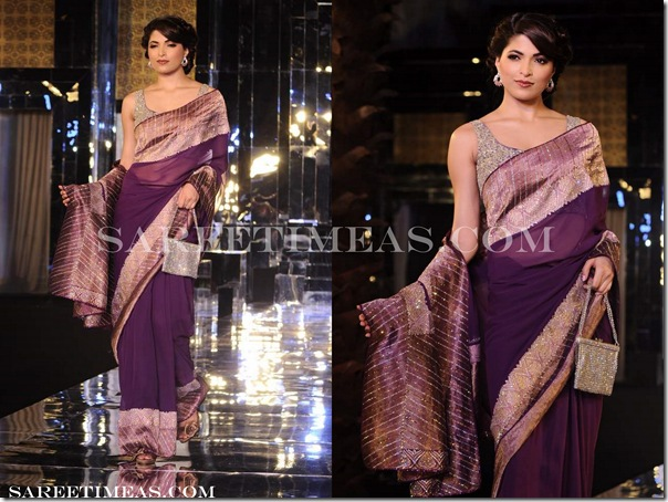 Adarsh_Gill_Purple_Saree