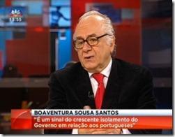 Boaventura Sousa Santos na SIC. Fev.2013