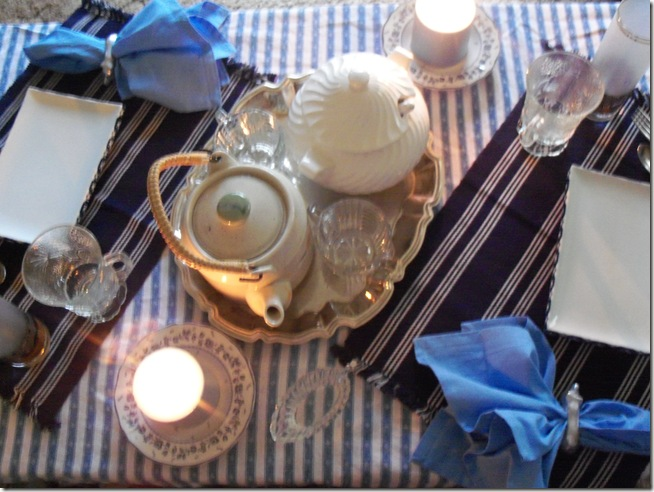blue coffee table dinner 014