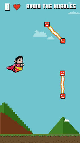Flappy Super Hero  Mega Man with Air Wings