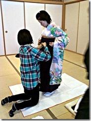 袴の他装着付け練習 (5)