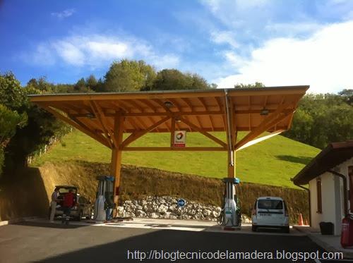 Marquesina madera gasolinera (7)