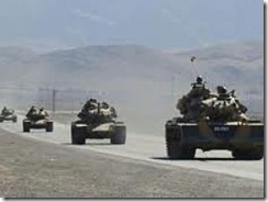 Turkish troops entering Kurdish Iraq