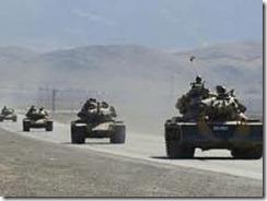 Turkish troops entering Kurdish Iraq