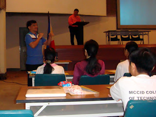 DOTC Rizal Morales gives his inspirational address.