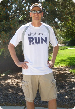 Shut Up and Run Men's Tech Tee