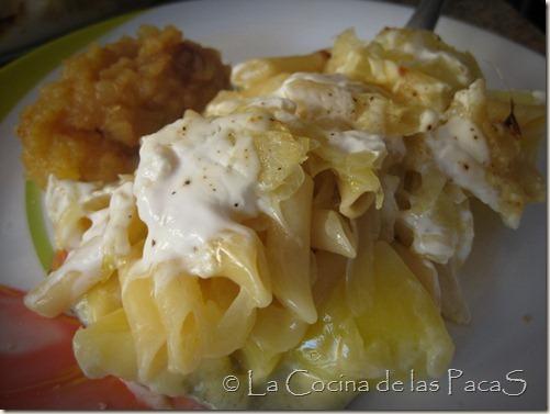 aelplermagronen con compota manzana (suizo)