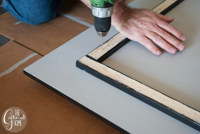 drill pilot holes through furring strips and mdf