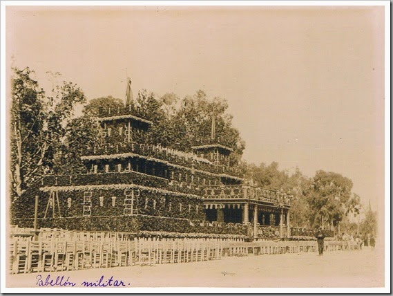 Feria de Julio. Pabellón Militar. Ca. 1900