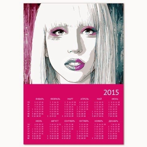 календарь леди гага