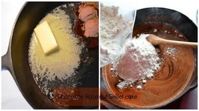 Skillet cake Collage