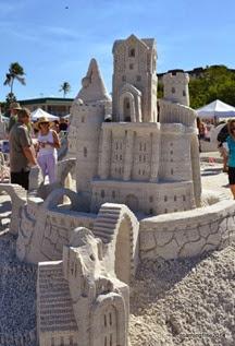 That's a sand castle!