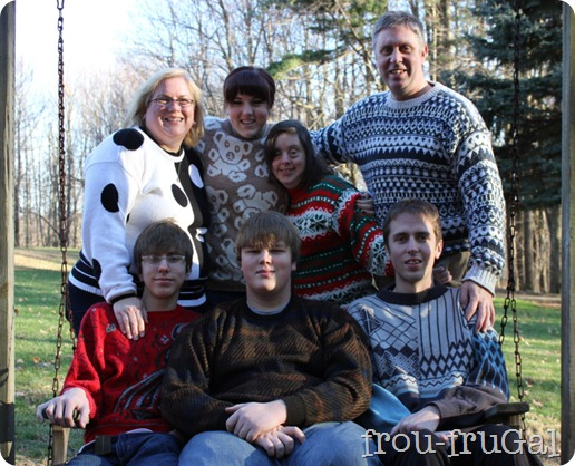 Ugly Sweater Family Photo
